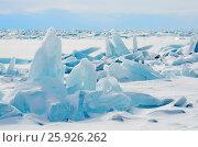 Купить «Сибирь, поле торосов на Байкале», фото № 25926262, снято 18 января 2019 г. (c) Овчинникова Ирина / Фотобанк Лори