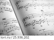 Купить «Open large music book close up», фото № 25936202, снято 8 апреля 2017 г. (c) Александр Калугин / Фотобанк Лори