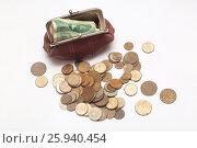 Кошелек с деньгами. Русские монеты 20 века. Стоковое фото, фотограф Olga Far / Фотобанк Лори