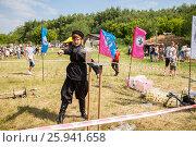 Купить «Традиционные народные соревнования по рубке казачьей шашкой», фото № 25941658, снято 18 июня 2016 г. (c) FotograFF / Фотобанк Лори