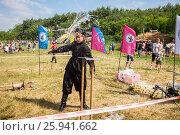 Купить «Традиционные народные соревнования по рубке казачьей шашкой», фото № 25941662, снято 18 июня 2016 г. (c) FotograFF / Фотобанк Лори