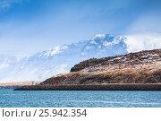 Coastal Icelandic landscape with coastal mountains (2017 год). Стоковое фото, фотограф EugeneSergeev / Фотобанк Лори