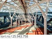 Купить «Москва, пешеходный мост Богдана Хмельницкого», фото № 25943758, снято 15 августа 2018 г. (c) glokaya_kuzdra / Фотобанк Лори