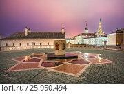 Купить «The Mortgage Stone of Kul-Sharif in the Kazan Kremlin on a winter night», фото № 25950494, снято 9 марта 2017 г. (c) Baturina Yuliya / Фотобанк Лори