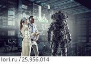 Scientists designing space suit. Mixed media . Mixed media, фото № 25956014, снято 27 апреля 2017 г. (c) Sergey Nivens / Фотобанк Лори