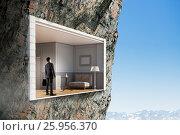 Купить «Office interior in rock. Mixed media . Mixed media», фото № 25956370, снято 23 марта 2014 г. (c) Sergey Nivens / Фотобанк Лори
