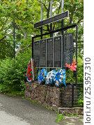 Купить «Memorial to the memory of dead fishermen in Petropavlovsk-Kamchatsky», фото № 25957310, снято 14 августа 2016 г. (c) Юлия Машкова / Фотобанк Лори