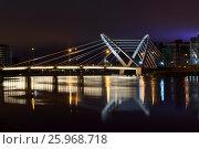 St.Petersburg Lazarevsky Bridge (2017 год). Стоковое фото, фотограф Владимир Ковальчук / Фотобанк Лори