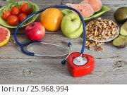 Купить «Healthy food for the heart», фото № 25968994, снято 23 марта 2017 г. (c) Майя Крученкова / Фотобанк Лори