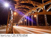 Saint Petersburg Bolsheokhtinsky Bridge (2016 год). Стоковое фото, фотограф Владимир Ковальчук / Фотобанк Лори