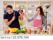 Food cooking tv show in the studio. Стоковое фото, фотограф Elnur / Фотобанк Лори