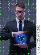 Купить «Businessman in artificial intelligence concept», фото № 25979242, снято 8 июля 2016 г. (c) Elnur / Фотобанк Лори