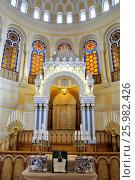 Купить «Большая хоральная синагога на Лермонтовском проспекте. Главный зал. Санкт-Петербург», фото № 25982426, снято 9 апреля 2017 г. (c) Владимир Кошарев / Фотобанк Лори