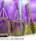 Old tennis racket. Стоковое фото, фотограф Maxim Tarasyugin / Фотобанк Лори