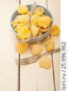 Купить «Italian snail lumaconi pasta», фото № 25996962, снято 13 апреля 2017 г. (c) Francesco Perre / Фотобанк Лори