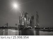 Moscow City business center in Moscow (2014 год). Редакционное фото, фотограф Александр Новиков / Фотобанк Лори