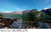 Купить «Beautiful Nature Norway.», видеоролик № 26000270, снято 15 апреля 2017 г. (c) Андрей Армягов / Фотобанк Лори