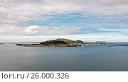 Купить «Aksla at the city of Alesund , Norway», видеоролик № 26000326, снято 30 марта 2017 г. (c) Андрей Армягов / Фотобанк Лори