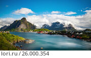 Купить «Timelapse Lofoten archipelago islands», видеоролик № 26000354, снято 24 марта 2017 г. (c) Андрей Армягов / Фотобанк Лори