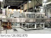 Купить «The filling machine pours beer into plastic PET bottles», фото № 26002870, снято 17 января 2013 г. (c) Андрей Радченко / Фотобанк Лори
