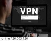 Купить «Cyber security concept. VPN», фото № 26003726, снято 11 сентября 2016 г. (c) Александр Лычагин / Фотобанк Лори