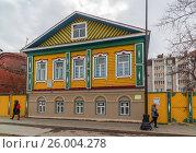 Купить «Kazan, Russia - March 28.2017. Mardzhani House in Staro-Tatar Sloboda, pedestrian street Kayum Nasiry», фото № 26004278, снято 28 марта 2017 г. (c) Володина Ольга / Фотобанк Лори