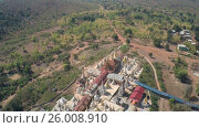 Купить «Aerial view on Shwe Inn Thein Paya temple complex», видеоролик № 26008910, снято 17 ноября 2016 г. (c) Михаил Коханчиков / Фотобанк Лори