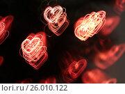 Background with heart-shaped lights. Стоковое фото, фотограф Tatjana Romanova / Фотобанк Лори