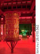 Пагода Семи Дней. Молитвенный барабан с мантрой Ом Мани Падме Хум. Элиста. Калмыкия (2008 год). Стоковое фото, фотограф Румянцева Наталия / Фотобанк Лори