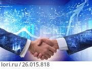 Купить «Handshake concept - business metaphor illustration», фото № 26015818, снято 17 января 2019 г. (c) Elnur / Фотобанк Лори
