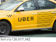 Купить «Такси UBER», фото № 26017342, снято 14 апреля 2017 г. (c) Сергей Спритнюк / Фотобанк Лори