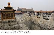 Купить «Beijing. The Palace Museum, Forbidden city», видеоролик № 26017822, снято 3 апреля 2017 г. (c) Яна Королёва / Фотобанк Лори