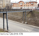 Пешеходный мост. Нижний Новгород (2017 год). Редакционное фото, фотограф Юрий Леденцов / Фотобанк Лори