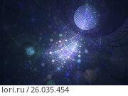 Планеты на синем небе, фон. Стоковая иллюстрация, иллюстратор Дмитрий Тищенко / Фотобанк Лори