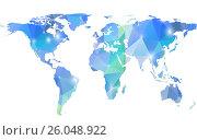 Modern background with Earth map. Стоковая иллюстрация, иллюстратор Миронова Анастасия / Фотобанк Лори
