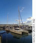 Купить «Парусные и моторные яхты у морского причала Сочи», фото № 26051142, снято 15 октября 2016 г. (c) DiS / Фотобанк Лори