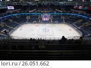 Купить «Interior of VTB ice arena», фото № 26051662, снято 12 октября 2016 г. (c) Alexander Mirt / Фотобанк Лори