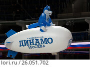 Купить «Mascot of Dynamo Moscow team», фото № 26051702, снято 12 октября 2016 г. (c) Alexander Mirt / Фотобанк Лори