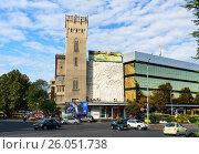 Купить «Building on Baratashvili avenue in Tbilisi, Georgia», фото № 26051738, снято 25 сентября 2016 г. (c) Elena Odareeva / Фотобанк Лори