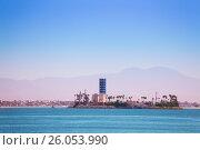 Купить «Island Grissom off the coast of Long Beach, USA», фото № 26053990, снято 16 апреля 2015 г. (c) Сергей Новиков / Фотобанк Лори