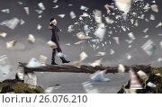 Купить «Overcome fear of failure . Mixed media», фото № 26076210, снято 25 марта 2014 г. (c) Sergey Nivens / Фотобанк Лори