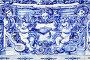 Detail of traditional portuguese tilework azulejo, фото № 26077214, снято 13 мая 2012 г. (c) Роман Сигаев / Фотобанк Лори