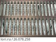 Купить «Фрагмент решетчатого пола», фото № 26078258, снято 18 ноября 2011 г. (c) Цветков Виталий / Фотобанк Лори