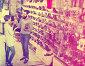 Couple choosing sneakers in store, фото № 26082298, снято 24 февраля 2017 г. (c) Яков Филимонов / Фотобанк Лори