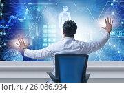 Doctor in telemedicince futuristic medical concept. Стоковое фото, фотограф Elnur / Фотобанк Лори