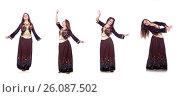 Купить «Young lady dancing traditional azeri dance», фото № 26087502, снято 28 февраля 2013 г. (c) Elnur / Фотобанк Лори