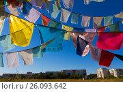 Buddhistic cloured flags. Стоковое фото, фотограф Наталья Ефимова / Фотобанк Лори
