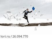 Купить «Overcome fear of failure . Mixed media», фото № 26094770, снято 24 февраля 2011 г. (c) Sergey Nivens / Фотобанк Лори