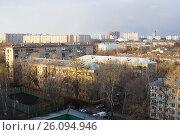Купить «Москва, вид сверху на район Измайлово», фото № 26094946, снято 17 апреля 2017 г. (c) Павел Москаленко / Фотобанк Лори