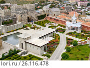 Купить «View on Rabati Castle in Akhaltsikhe, Georgia», фото № 26116478, снято 29 сентября 2016 г. (c) Elena Odareeva / Фотобанк Лори
